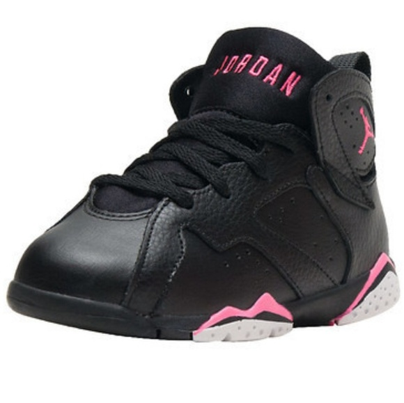 buy popular 75b77 583b8 Toddler Girl Jordan Retro 7 Hyper Pink/Black